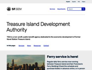 sftreasureisland.org screenshot