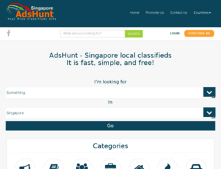 sg.adshunt.com screenshot
