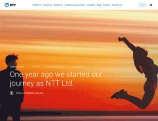 sg.ntt.com screenshot
