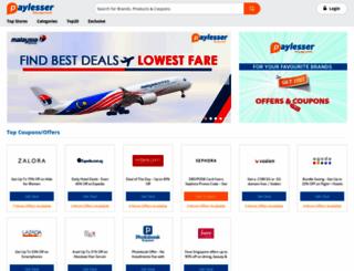 sg.paylesser.com screenshot