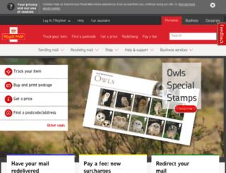 sg.royalmail.com screenshot