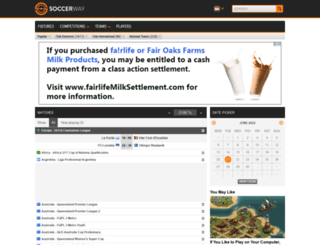 sg.soccerway.com screenshot