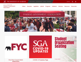 sga.ua.edu screenshot