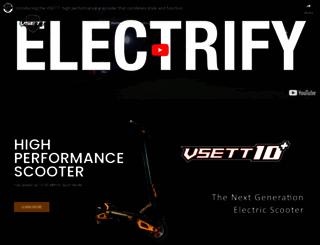 sgelectricscooters.com screenshot