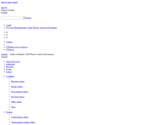 sgh.edu.pl screenshot