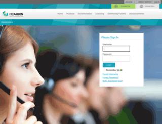 sgilicense.intergraph.com screenshot