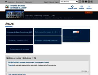 sgitt-otri.ua.es screenshot