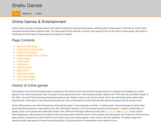 shabugames.com screenshot