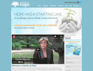 shadesofhope.com screenshot