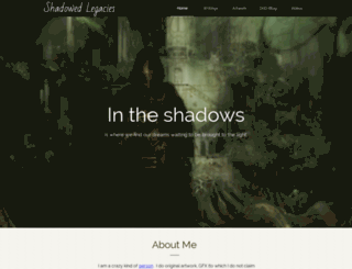 shadowedlegacies.com screenshot