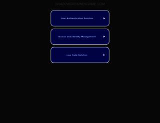 shadowgroundsgame.com screenshot