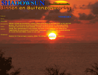 shadowsun.nl screenshot