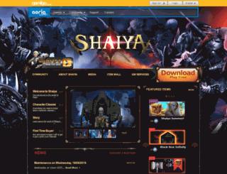 shaiya.aeriagames.com screenshot