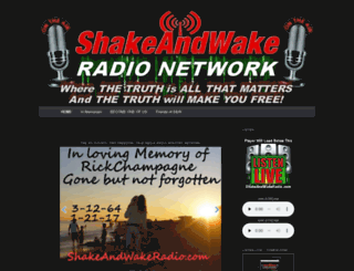 shakeandwakeradio.com screenshot