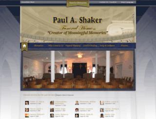 shakerfuneralhome.com screenshot