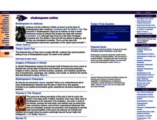 shakespeare-online.com screenshot