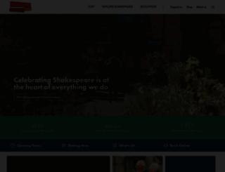 shakespeare.org.uk screenshot