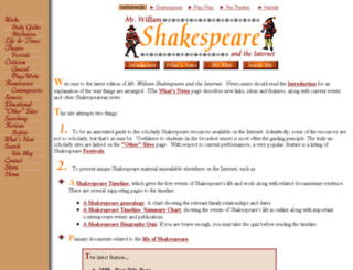 shakespeare.palomar.edu screenshot