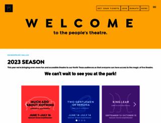 shakespearedallas.org screenshot