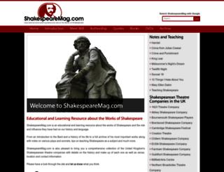 shakespearemag.com screenshot
