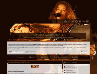 shakira-addicted.net screenshot