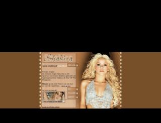 shakira.nl screenshot