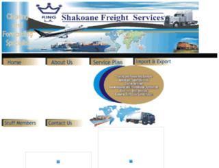 shakoanefreightservices.co.za screenshot
