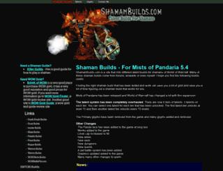 shamanbuilds.com screenshot