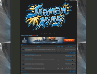 shamanking.forum-motion.com screenshot