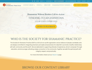 shamansociety.org screenshot