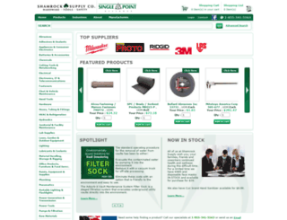 shamrocksupply.com screenshot