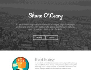 shaneoleary.me screenshot