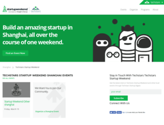 shanghai.startupweekend.org screenshot