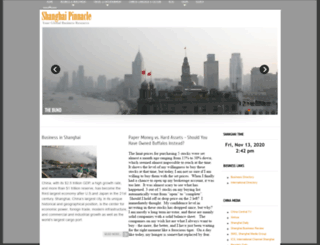 shanghaipinnacle.com screenshot