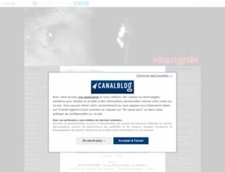 shangols.canalblog.com screenshot