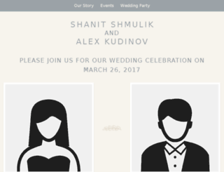 shanitandalex.minted.us screenshot