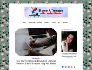 shannonathompson.com screenshot