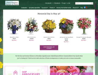 shannonflorist.com screenshot