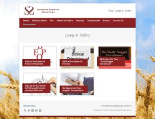 shannonstewartministries.org screenshot