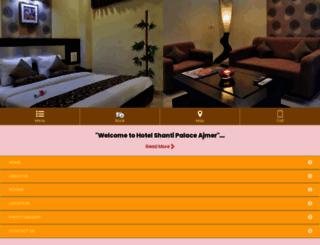 shantipalaceajmer.com screenshot