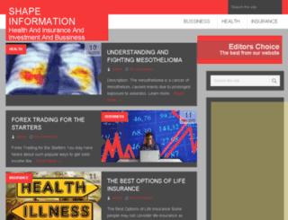 shapeinformation.com screenshot