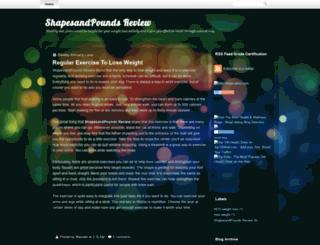 shapesandpounds-review.blogspot.com screenshot