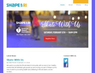 shapeupri.org screenshot