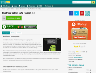 shaplus-caller-info-india.soft112.com screenshot