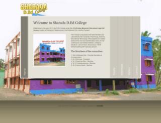 sharadadedcollege.in screenshot