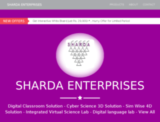 shardasales.co.in screenshot
