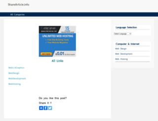 sharearticle.info screenshot