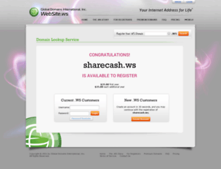 sharecash.ws screenshot