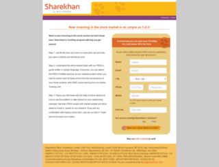sharekhan-firststep.com screenshot