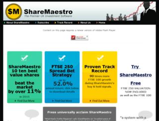 sharemaestro.co.uk screenshot